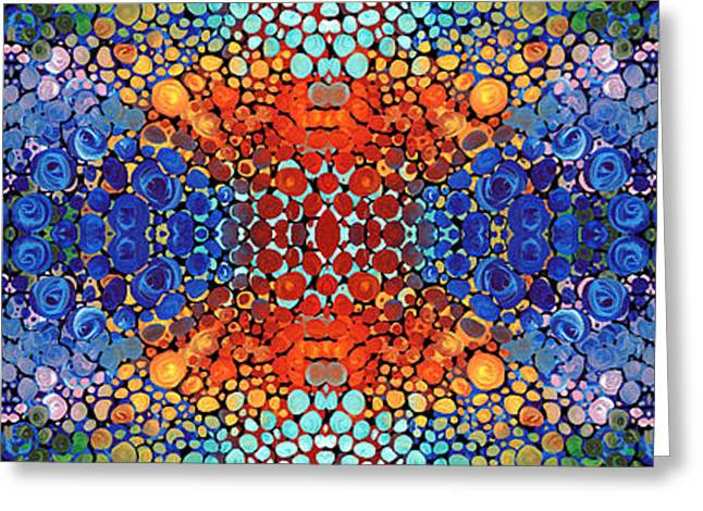 Patterned Greeting Cards - Colorful Layers - Abstract Art By Sharon Cummings Greeting Card by Sharon Cummings