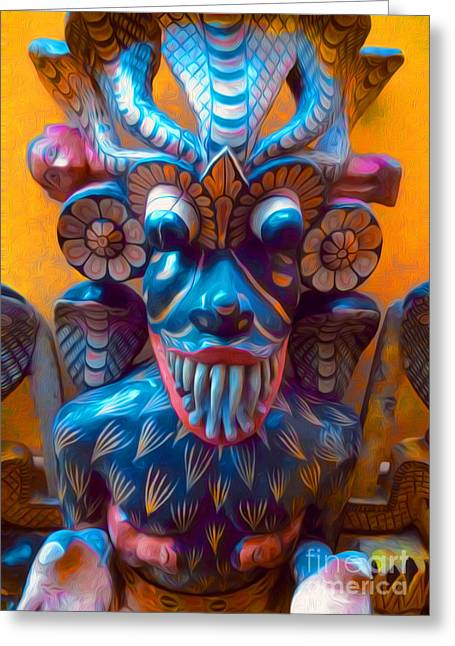 New York The Metropolitan Museum Of Art Greeting Cards - Colorful Mask Greeting Card by Gregory Dyer
