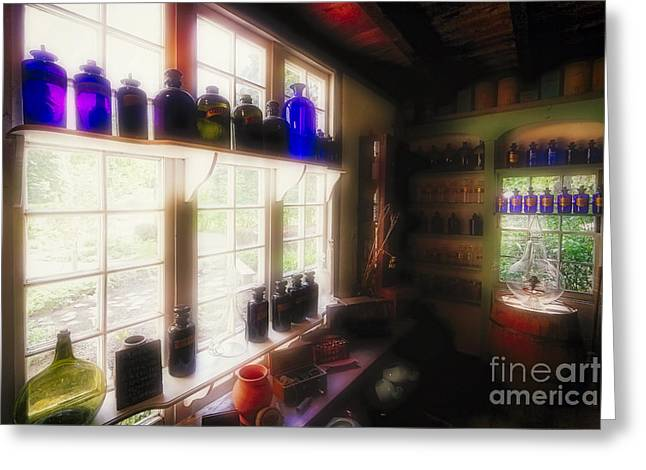 Pill Box Greeting Cards - Colorful Medicine Bottles  Greeting Card by George Oze