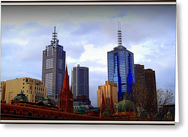 Faa Featured Greeting Cards - Colorful Melbourne Greeting Card by Toni Abdnour
