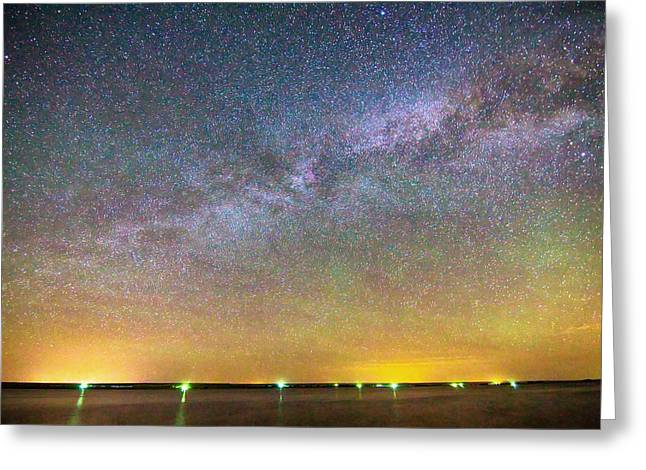 Beautiful Scenery Greeting Cards - Colorful Milky Way Night Greeting Card by James BO  Insogna