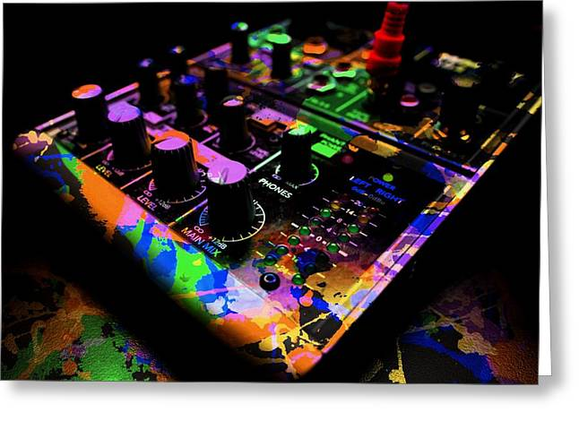 Sound Board Greeting Cards - Mixing Colors Greeting Card by Aaron Berg