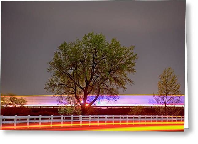 Emergency Vehicle Greeting Cards - Colorful Night Greeting Card by James BO  Insogna