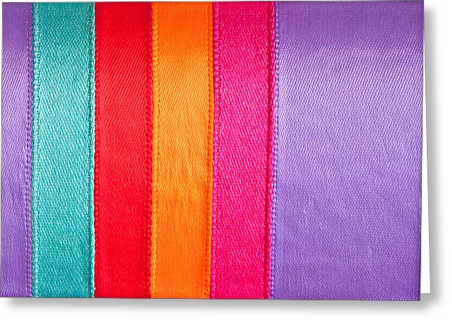 Nylons Greeting Cards - Colorful nylon Greeting Card by Tom Gowanlock