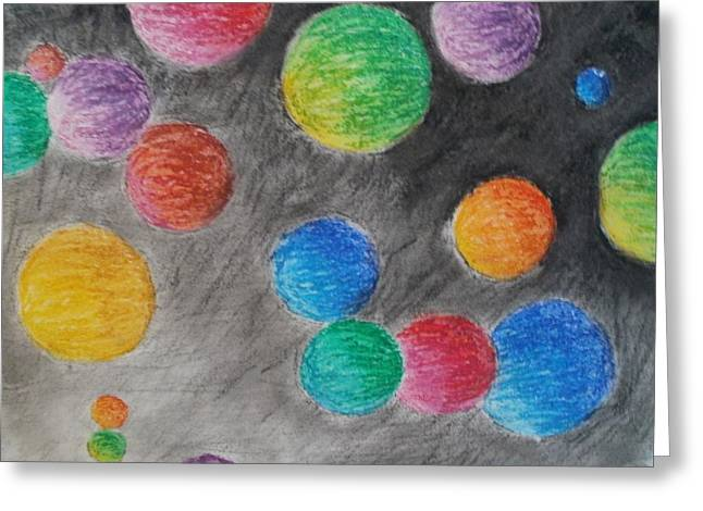 Sizes Pastels Greeting Cards - Colorful Orbs Greeting Card by Thomasina Durkay