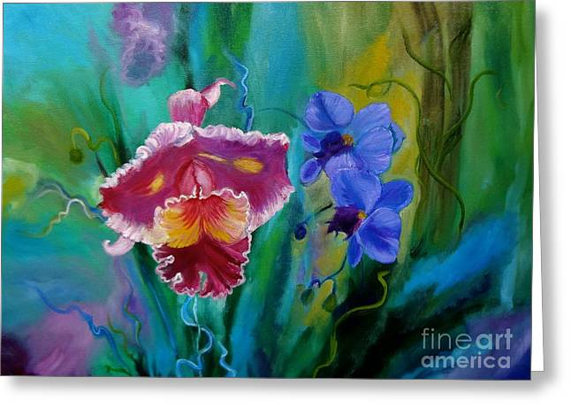 Cattleya Greeting Cards - Colorful Orchids of Hawaii Greeting Card by Jenny Lee