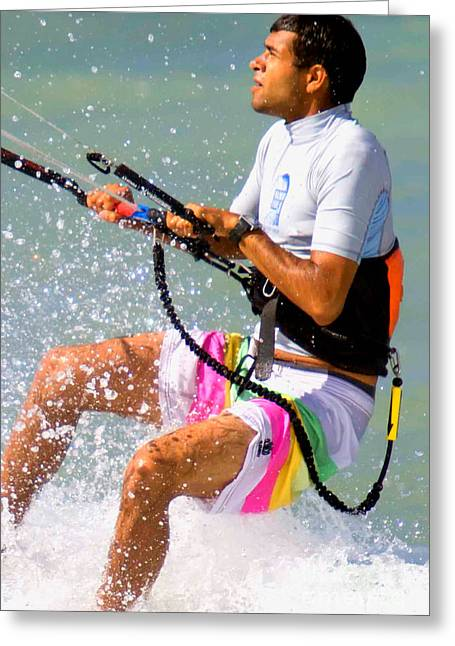 Parasail Greeting Cards - Colorful Parasailing Greeting Card by Christopher Purcell