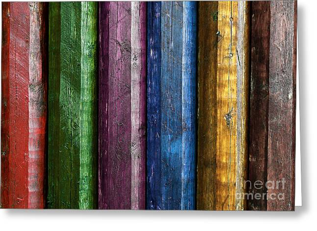 Abstract Style Greeting Cards - Colorful poles  Greeting Card by Carlos Caetano