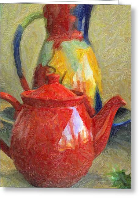 Francis Greeting Cards - Colorful Pottery Greeting Card by Kenny Francis