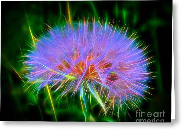 Purchase Digital Art Greeting Cards - Colorful Puffball Greeting Card by Patrick Witz