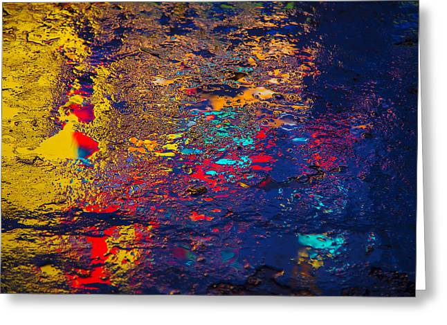 Gutter Greeting Cards - Colorful reflections Greeting Card by Garry Gay