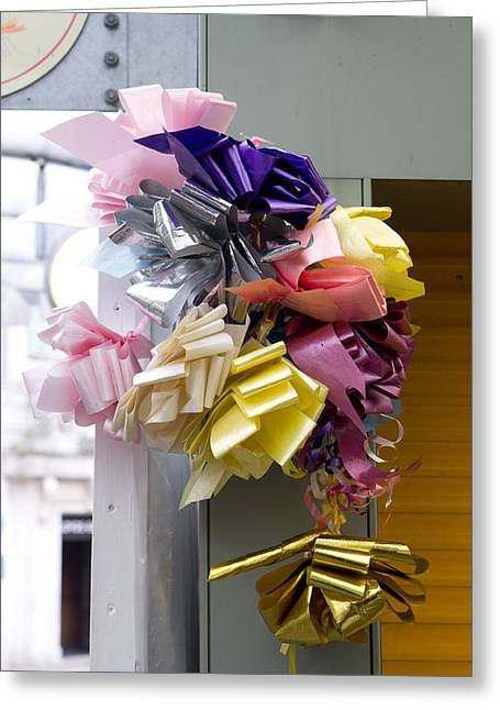Birthday Present Greeting Cards - Colorful ribbons Greeting Card by Tom Gowanlock