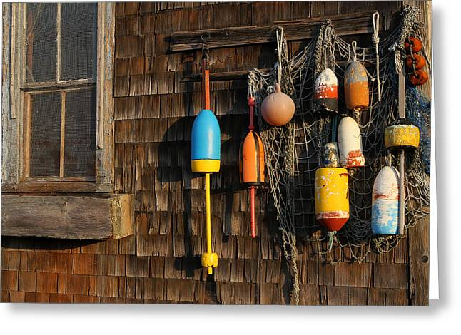 Rockport Ma Greeting Cards - Colorful Rockport Buoys  Greeting Card by Juergen Roth