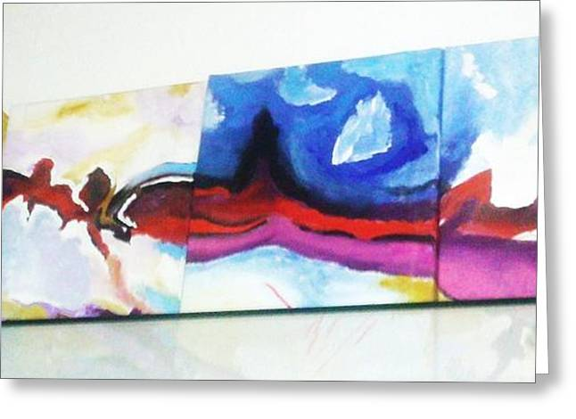 Basilio Greeting Cards - Colorful Sequence Greeting Card by Vickie Meza