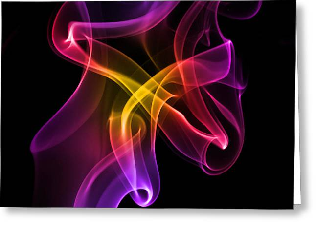 Splashy Digital Greeting Cards - Colorful Smoke  Greeting Card by Frida  Kaas