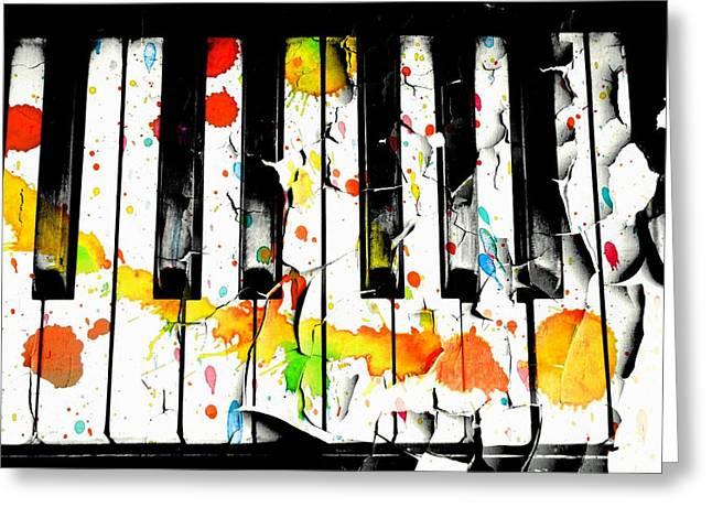 Recently Sold -  - Popular Art Greeting Cards - Colorful Sound Greeting Card by Aaron Berg