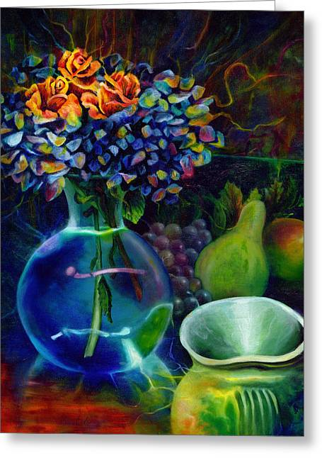 Kd Greeting Cards - Colorful Still Life Greeting Card by Kd Neeley