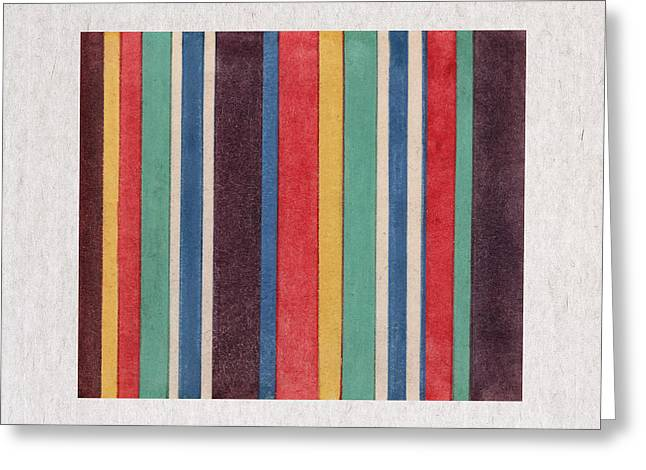 Contemporary Design Greeting Cards - Colorful Stripes Greeting Card by Aged Pixel