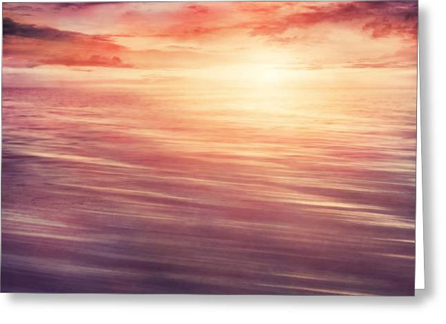 Colorful Sunset Greeting Card by Mythja  Photography