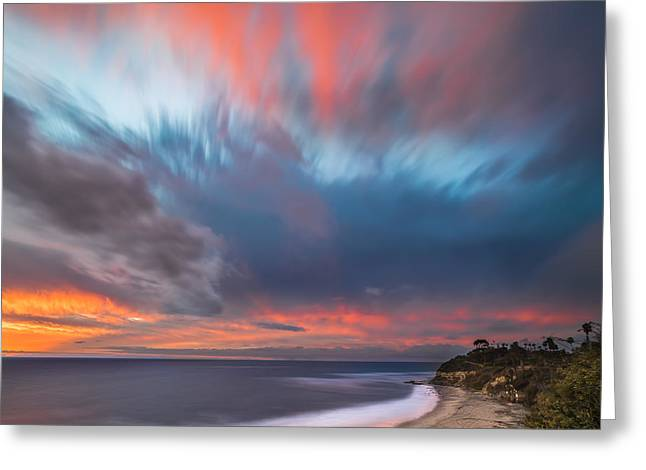 Ocean. Reflection Greeting Cards - Colorful Swamis Sunset - Square Greeting Card by Larry Marshall