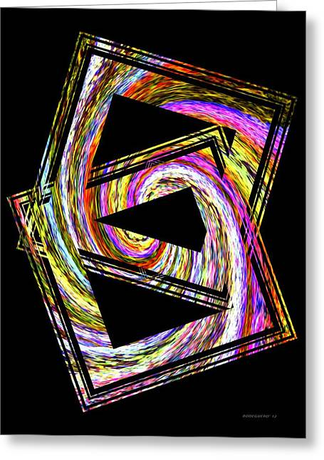 Geometric Greeting Cards - Colorful Swirl  Greeting Card by Mario  Perez
