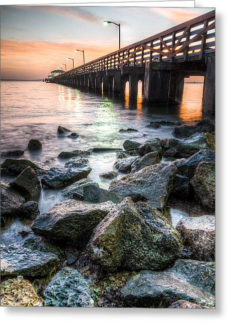 Tampa Bay Florida Greeting Cards - Colorful Tampa Bay Greeting Card by Clay Townsend