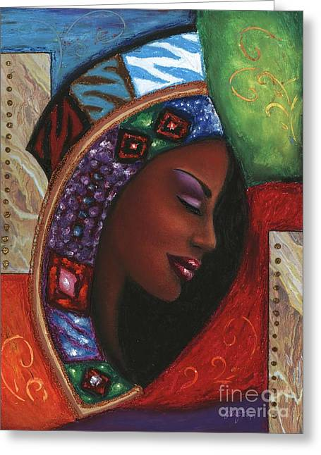 African-americans Pastels Greeting Cards - Colorful Thought Greeting Card by Alga Washington