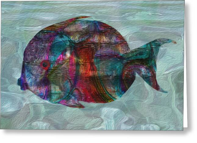 Scuba Diving Digital Greeting Cards - Colorful Tropical Fish 2 Greeting Card by Jack Zulli