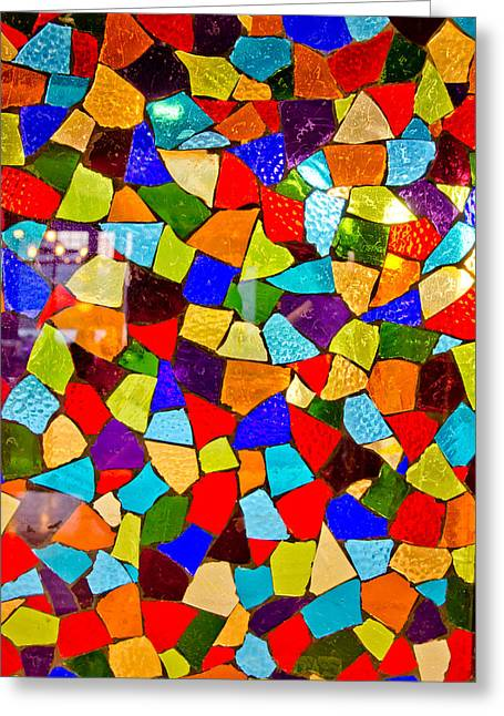 Flashy Glass Art Greeting Cards - Colorful visions Greeting Card by Manu Singh