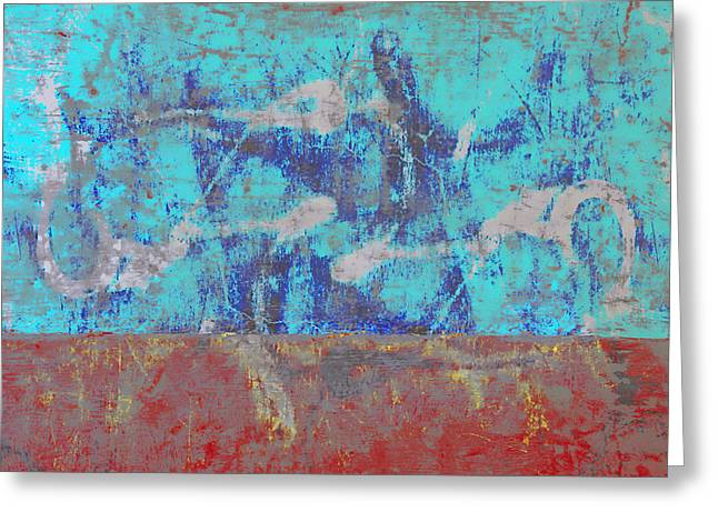 Abstractions Greeting Cards - Colorful Walls Number 1 Greeting Card by Carol Leigh