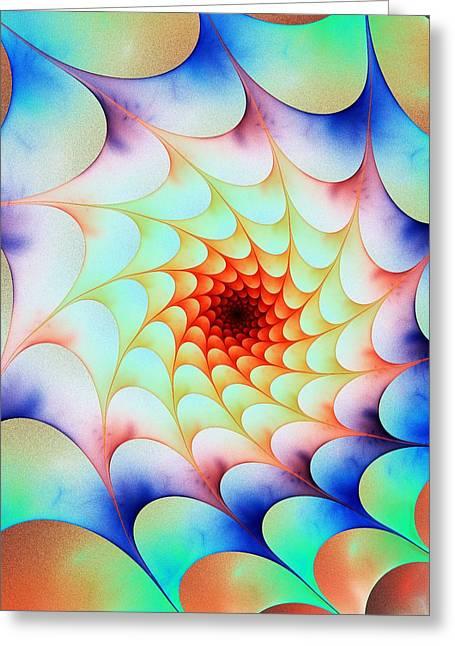 Abstract Digital Mixed Media Greeting Cards - Colorful Web Greeting Card by Anastasiya Malakhova