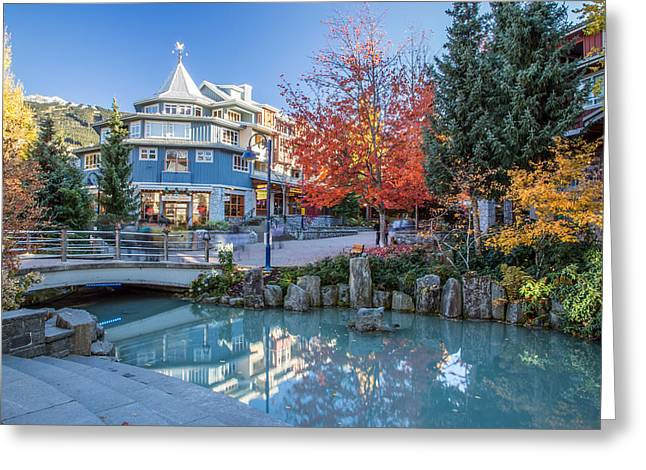 Ski Village Greeting Cards - Colorful Whistler Village in Autumn Greeting Card by Pierre Leclerc Photography