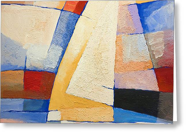 Abstract Seascape Paintings Greeting Cards - Colorful Winds Greeting Card by Lutz Baar