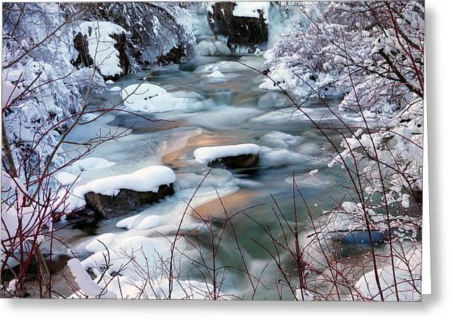 Idaho Greeting Cards - Colorful Winter Greeting Card by Leland D Howard