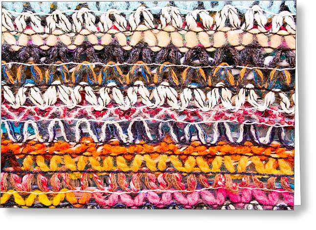 Abstract Style Greeting Cards - Colorful wool Greeting Card by Tom Gowanlock