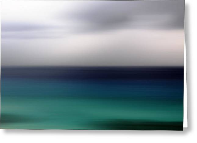 Blue Green Water Greeting Cards - colori dItalia 97 Greeting Card by Steffi Louis