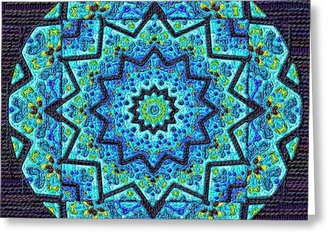 Tapestry Wool Greeting Cards - Coloriages Mandala Arras Greeting Card by Victor Gladkiy