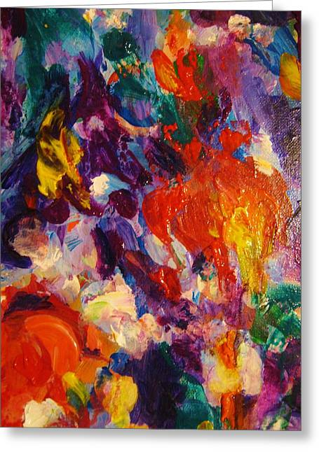 People Greeting Cards - Colors 12 Greeting Card by Helen Kagan