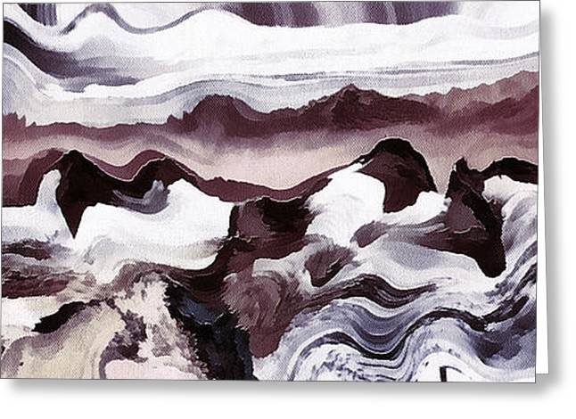 Czintos Abstract Greeting Cards - Colors art abstract Greeting Card by Odon Czintos
