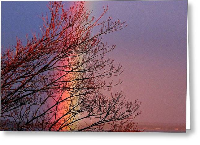 A Donnie Original Greeting Cards - Colors from the Sky Greeting Card by Donnie Freeman