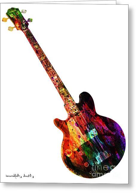 Colors Guitar  Greeting Card by Mark Ashkenazi