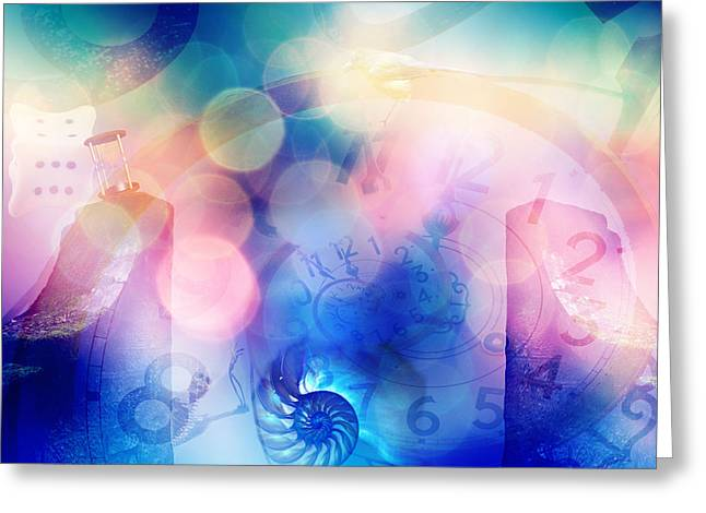 Dotted Shells Greeting Cards - Colors in Time Greeting Card by Becca Buecher