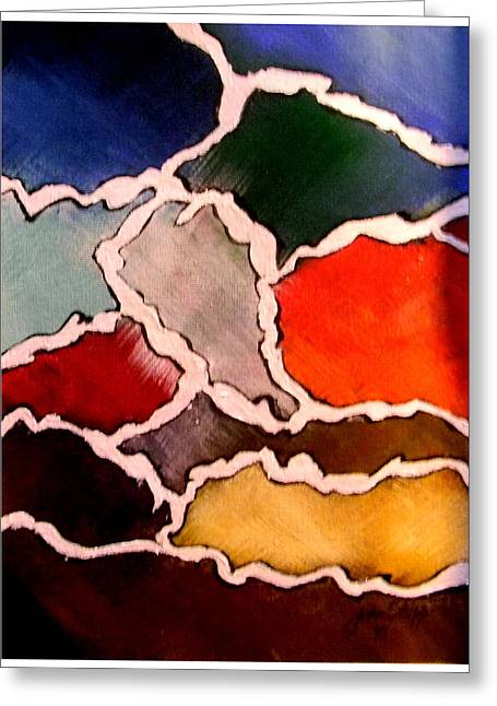 Freeform Greeting Cards - Colors Greeting Card by John Shipp