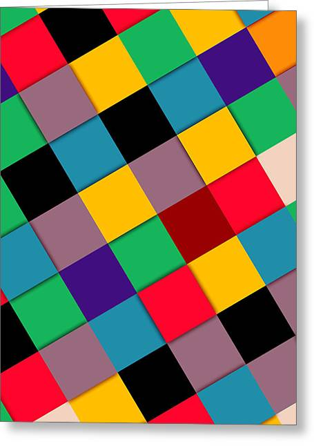 Geometric Shape Greeting Cards - Colors  Greeting Card by Mark Ashkenazi