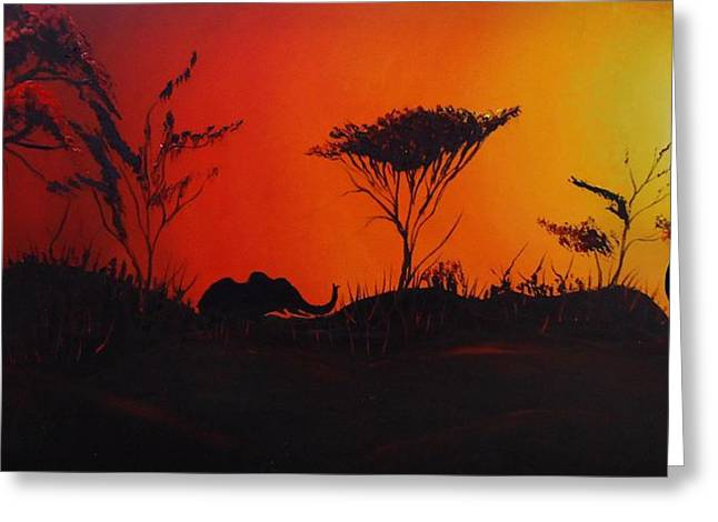 Colors Of Africa 45 Greeting Card by Portland Art Creations