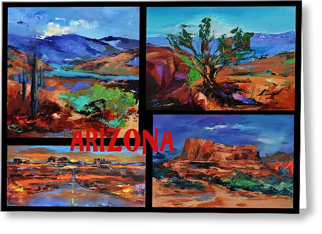 Desert Greeting Cards Greeting Cards - Colors of Arizona Greeting Card by Elise Palmigiani