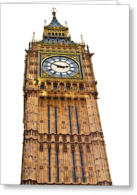 Blue And Green Greeting Cards - Colors of Big Ben Greeting Card by Christi Kraft
