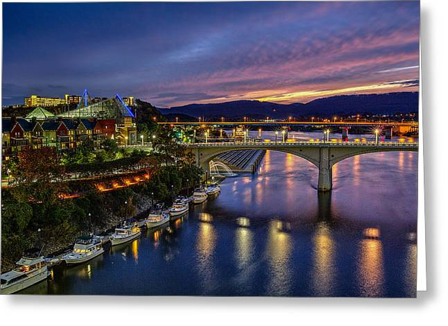 Recently Sold -  - Tennessee River Greeting Cards - Colors of Chattanooga  Greeting Card by Sora Photography