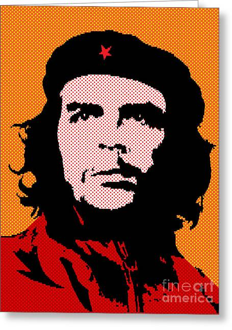 Che Guevara Greeting Cards - Colors of Che No.3 Greeting Card by Bobbi Freelance