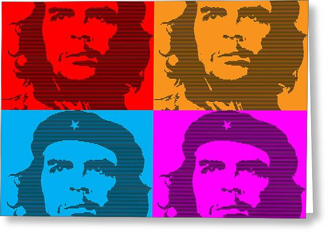 Che Guevara Greeting Cards - Colors of Che No.7 Greeting Card by Bobbi Freelance